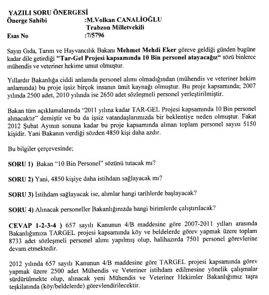 M.Volkan CANALİOĞLU 2012 Targel Alımı