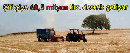 Bakanlıktan üreticilere 68,5 milyon liralık destek