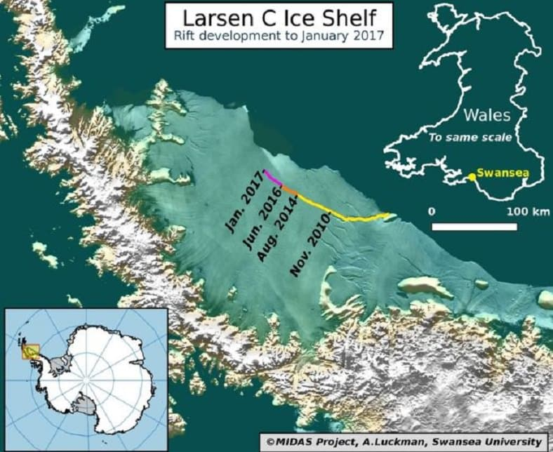 Antarktika'dan Dünya'ya Kötü Haber: Dev Bir Buz Kütlesi Kopuyor!
