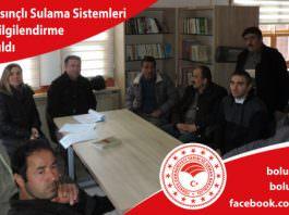 Kıbrıscık'ta Basınçlı Sulama Sistemleri Planlama ve Bilgilendirme Toplantısı Yapıldı