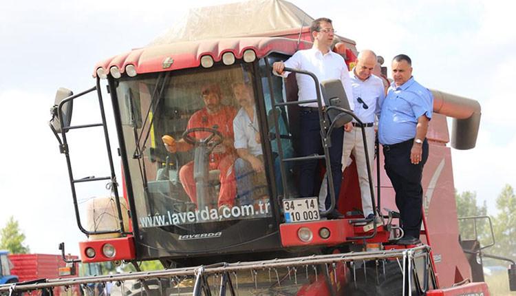 Ekrem İmamoğlu İstanbul'da hasat şenliğine katıldı
