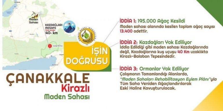 Tarım ve Orman Bakanlığından Kazdağları açıklaması.