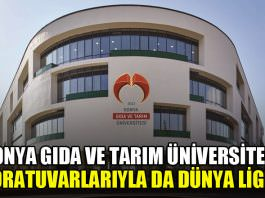 Konya Gıda ve Tarım Üniversitesi laboratuvarlarıyla da Dünya liginde
