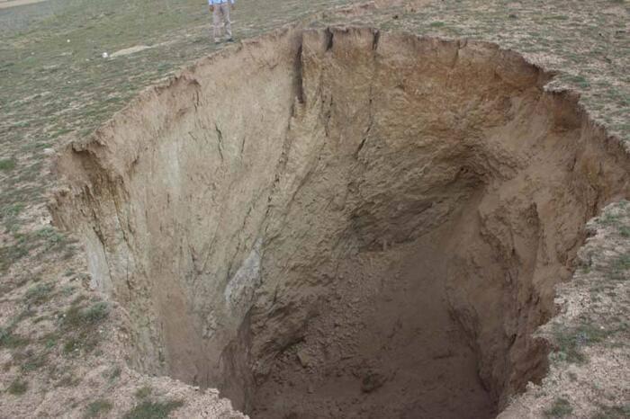 Konya Karapınar'da yeni obruk oluştu