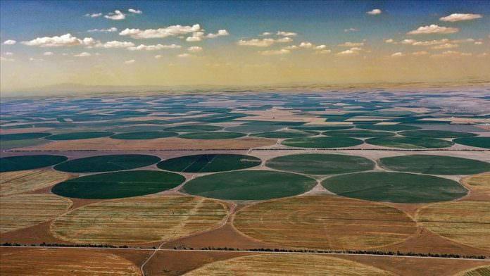 Konya'nın Dairesel Tarlaları Havadan Görüntülendi