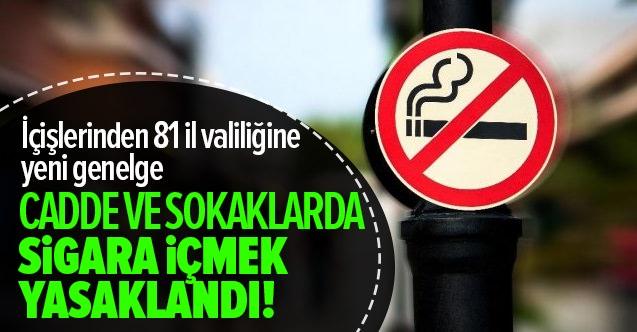 İçişleri Bakanlığı Açık Alanda Sigara içmeyi Kısıtladı