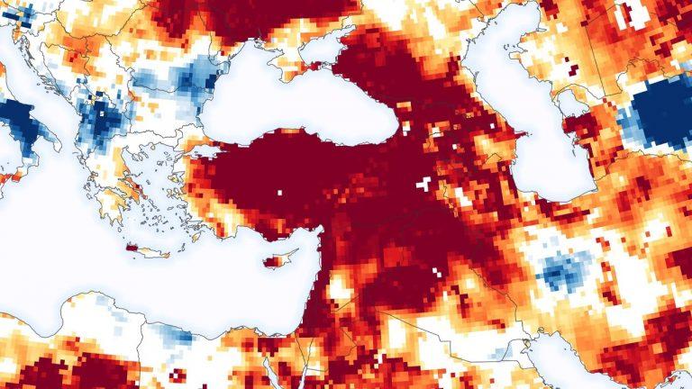 Türkiye'deki Yer Altı Sularının Durumunu Gösteren Harita